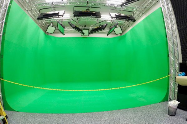 cyclorama, green screen, green call, virtual environment, cycs, U shaped
