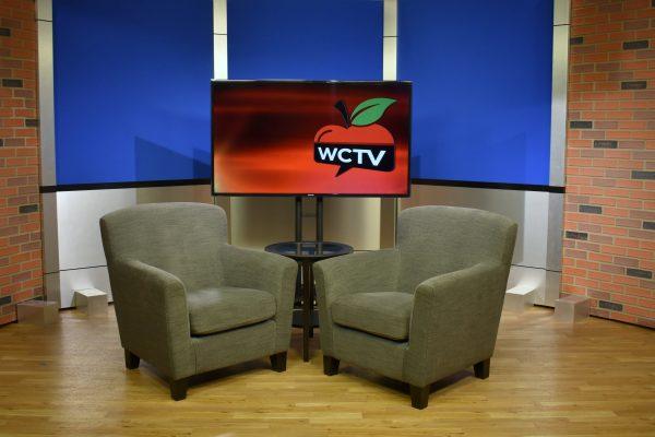 Rolling Panel System, Set Background, TV Studio, UNISET, WCTV, Wilmington Community Television