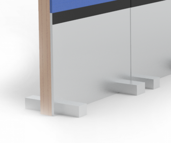Rolling Panel System, Rendering, foot chassis, foot covers